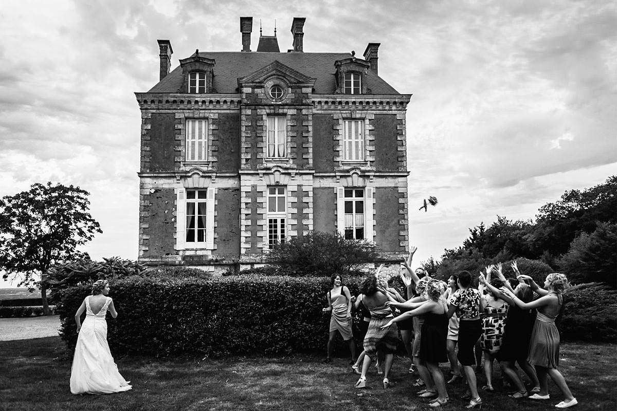 bouquet mariée chateau éperonnière jeremy fiori photographe mariage