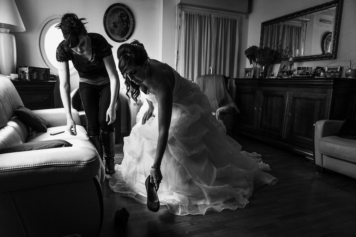 préparatifs mariage mariée chaussures Jeremy Fiori