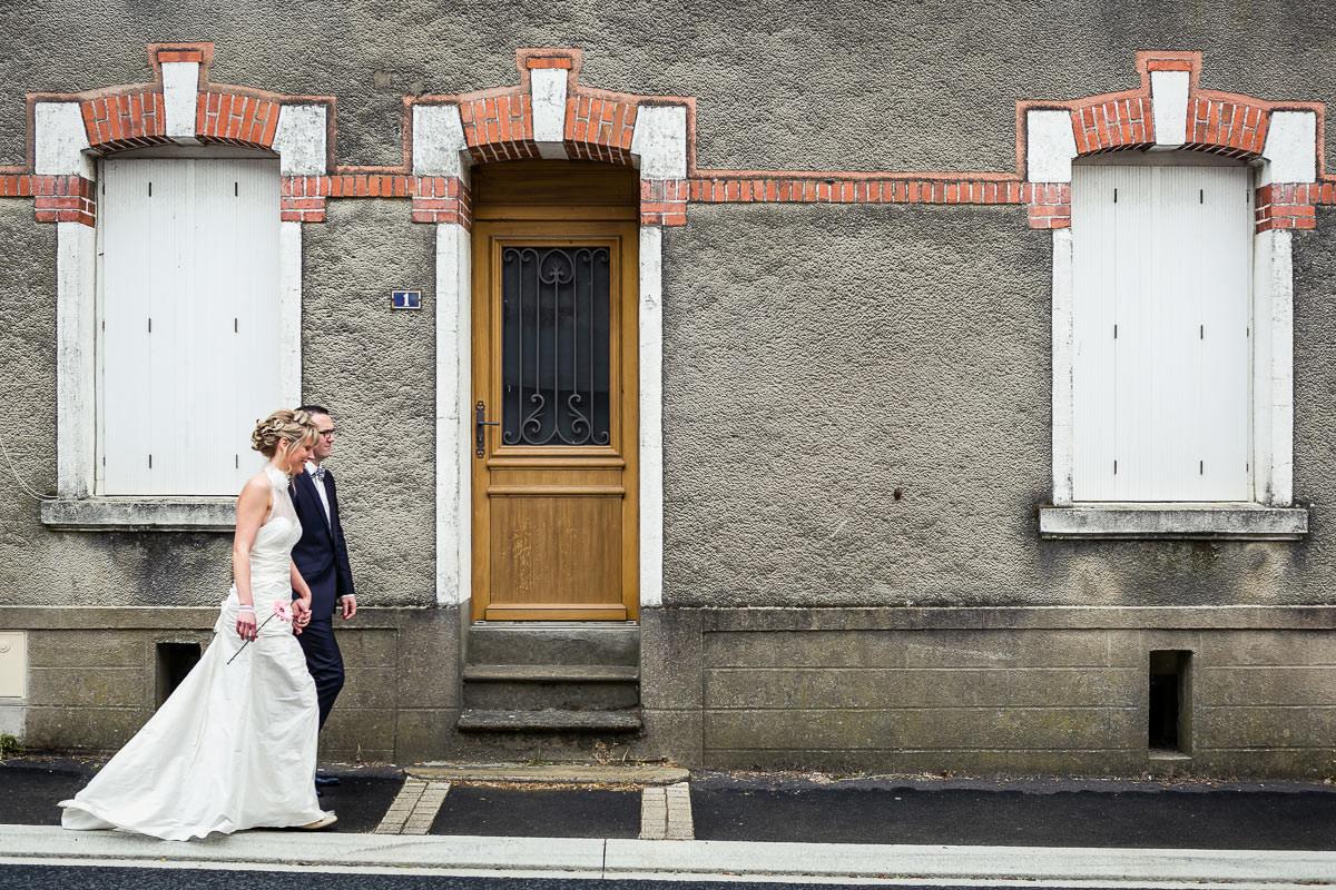 portrait de mariés cérémonie civile Jeremy Fiori photographe mariage Angers