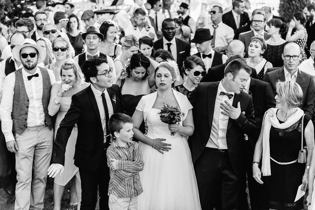 Photo de groupe mariage au domaine du bois d'Andigné - Jérémy Fiori