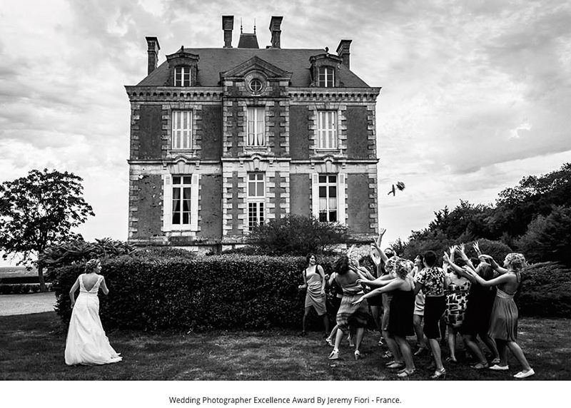 Récompenses Wedding Photographer Excellence Award Jeremy Fiori chateau Eperonnière