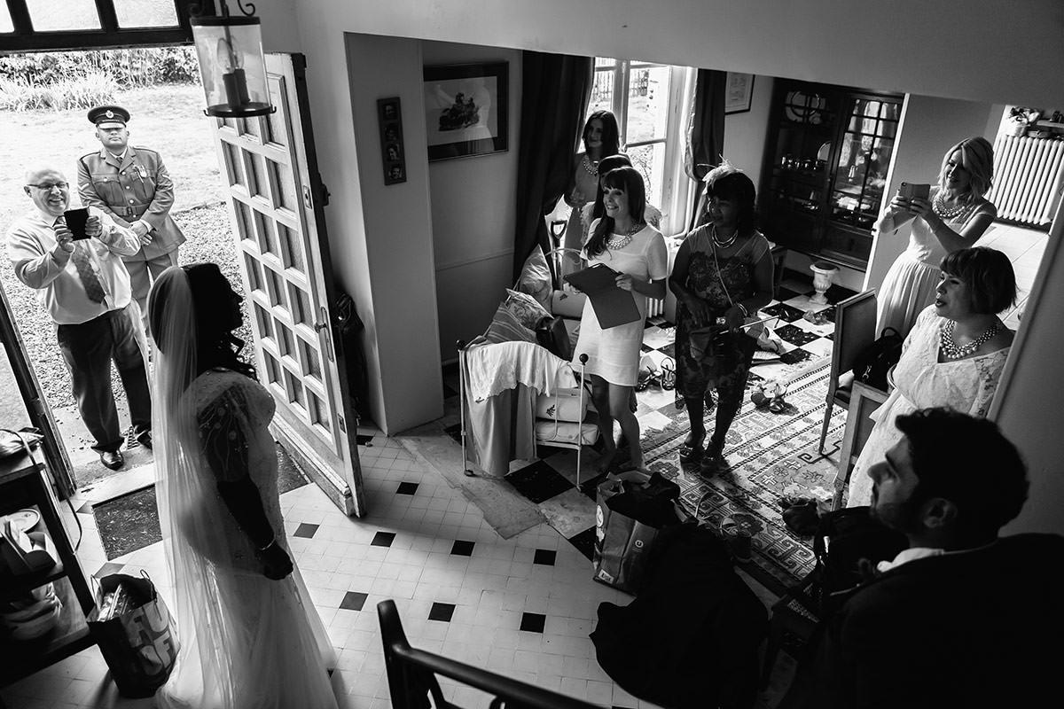 Découverte de la mariée - © Jeremy Fiori