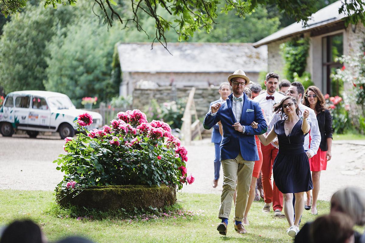 Cérémonie laique domaine du bois d'andigné Jérémy Fiori photo de mariage
