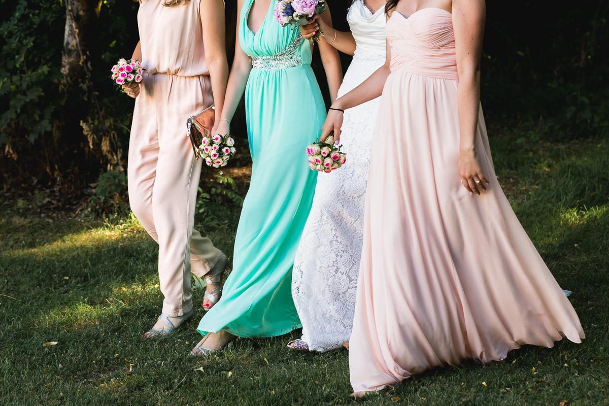 demoiselles d'honneur mariage robe blanche Jeremy fiori