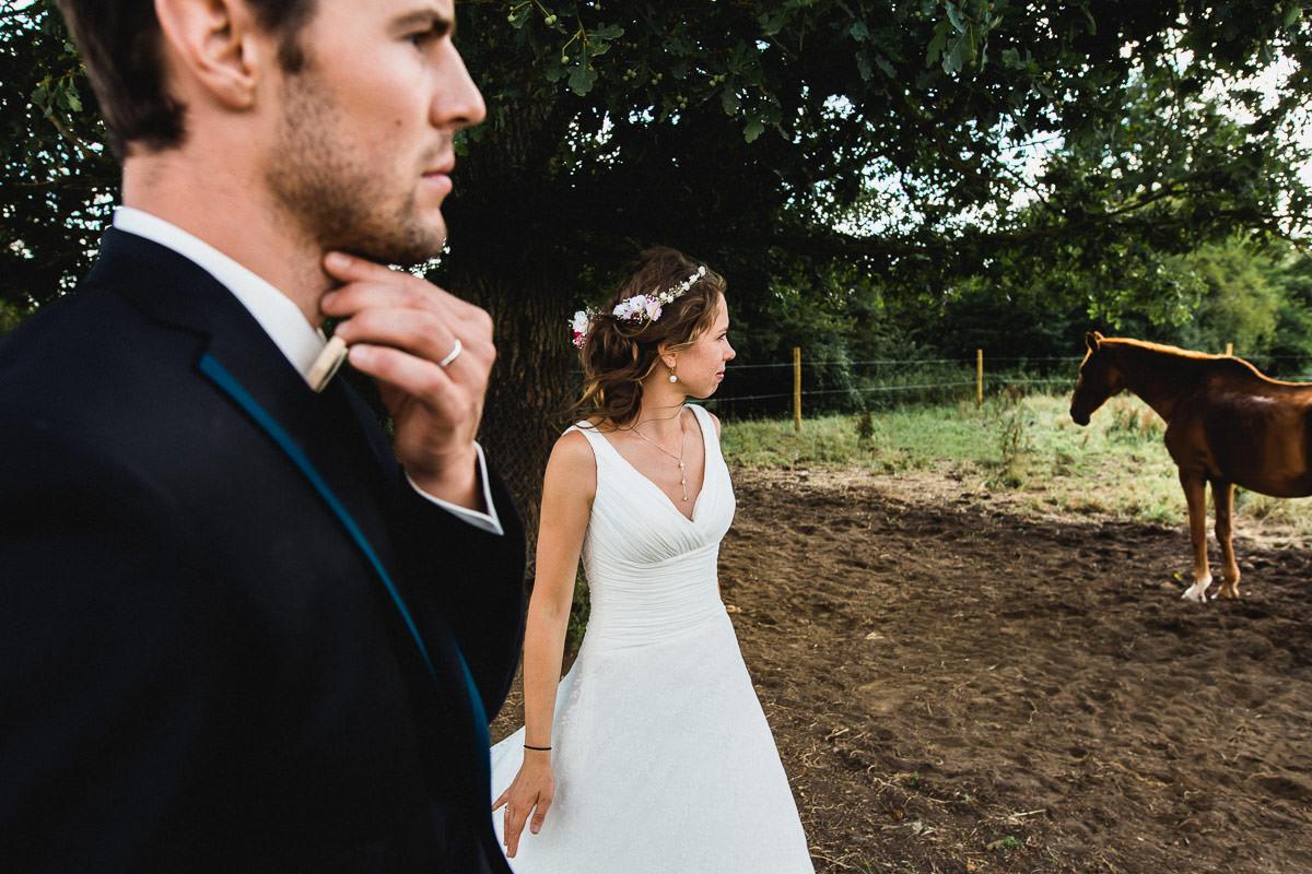 portrait de mariage couple mariés bride groom Jeremy Fiori
