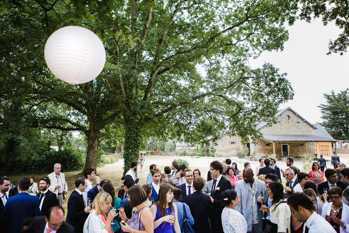 Cocktail Domaine du bois d'Andigné © Jeremy Fiori wedding photographer Loire valley