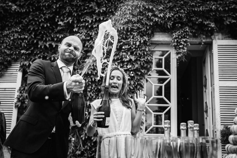 Mariage et champagne - © Jérémy Fiori photographe documentaire de mariage