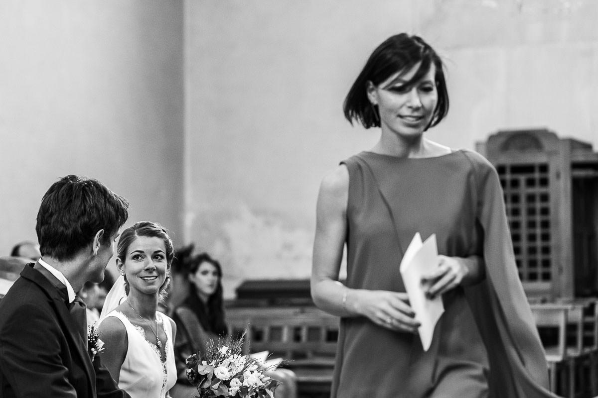 Regard complice entre les mariés - Photo : Jérémy Fiori photographe de mariage à Angers
