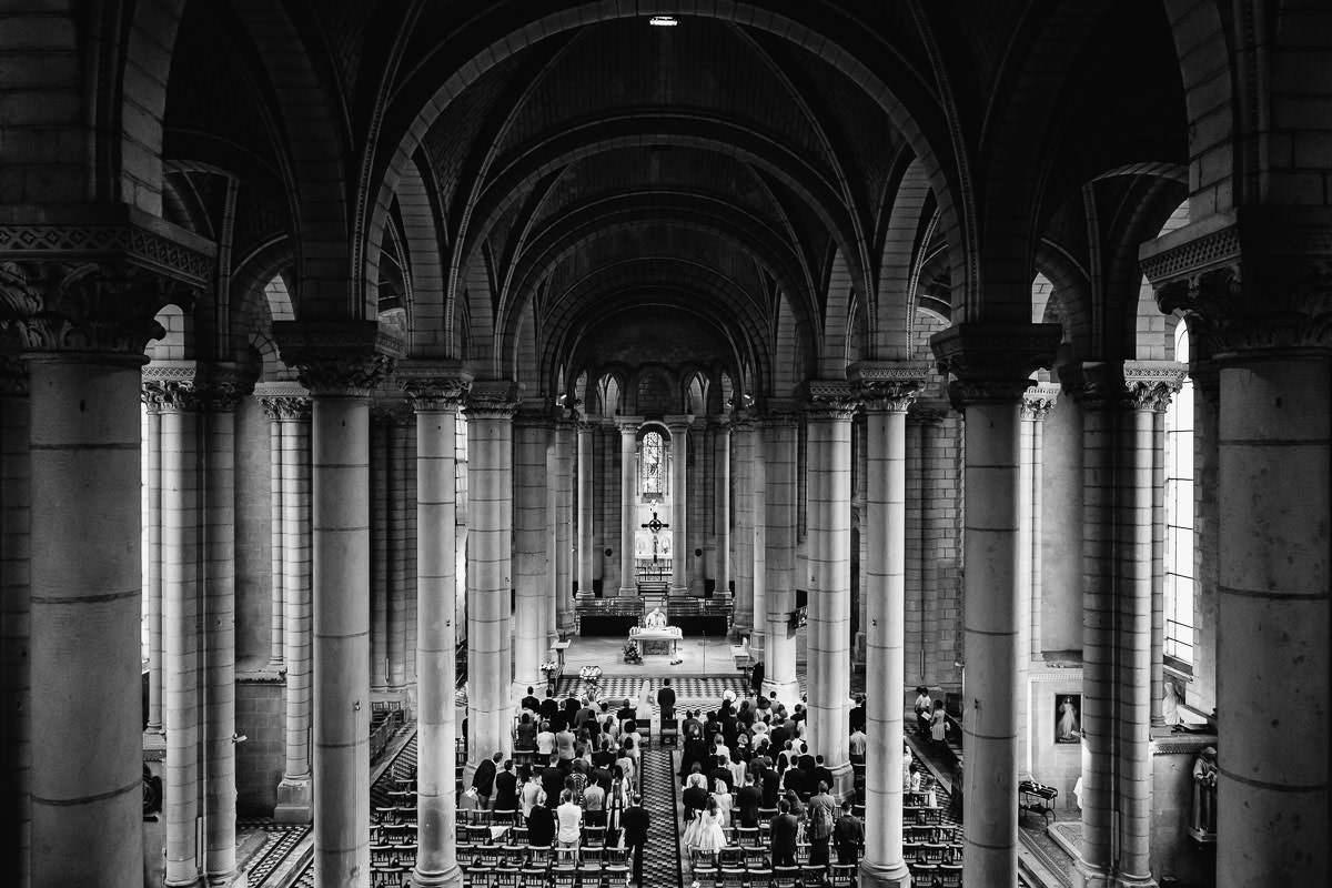 Vue du balcon de l'église Saint Laud - Photo : Jérémy Fiori photographe de mariage