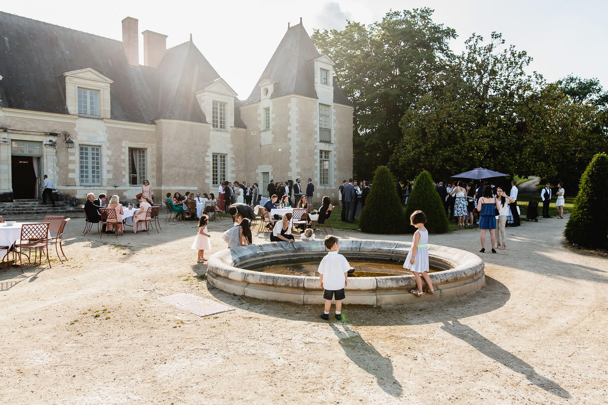 Vue extérieur du château de la Perrière - Photo : Jérémy Fiori photographe de mariage